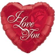 Foil Balloon - I Love You Red Rose - 18""