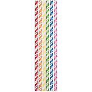 Paper Straws-Assorted Striped Colors-24pkg-7.75""