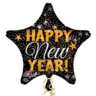 Foil Balloon-Happy New Year Star 19""