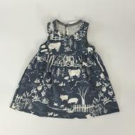 Oslo Baby Dress Farm Next Door Slate Grey