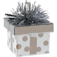 Balloon Weight-Gift Package -Silver Dots-6oz