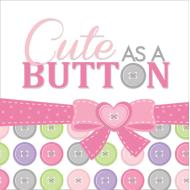 Napkins-LN-Cute as a Button Girl-16pkg-3ply - Discontinued