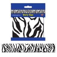 Party Tape-Plastic-Zebra Print-1pkg-20ft