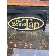 Small Brass Tap Sign