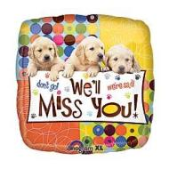 Foil Balloon - We'll Miss You Puppies - 18""