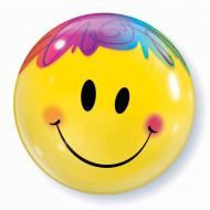 Bubble Balloon - Smiley Face 1pk