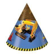 Hats-Cone-Under Construction-8pkg-Paper