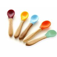 Avanchy Bamboo & Silicone Baby Spoons