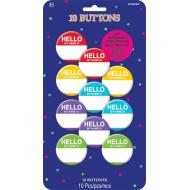 Buttons - Hello my name is