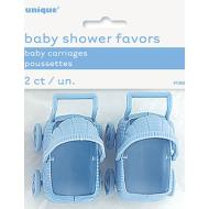 Baby Carriages-Mini-Baby Shower-Blue-2pk-Plastic