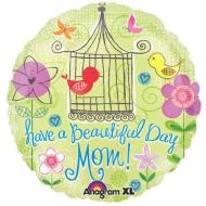 Foil Balloon - Have a Beautiful Day Mom Flower Garden - 18""