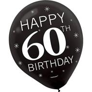 Balloons-Latex-60th Birthday-12''-15pk