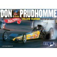MPC Don Prudhomme Hot Wheels Yellow Feather 1972 Top Fuel Dragster 1:25 Scale Plastic Model Kit