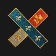Cross Acadian Flag Patch