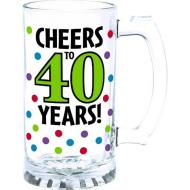 Glass-Tankard-40th Birthday-15oz