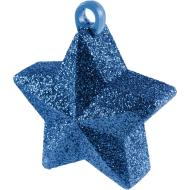 Balloon Weight-Glitter Star-Blue-6oz