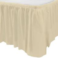 Table Skirt-Rectangular-Vanilla Creme-Plastic - Discontinued