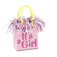 "Balloon Bag Weight-It's a Girl-1pkg-5""x2.75"""