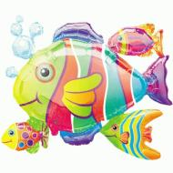 "Foil Balloon - Tropical Fish Cluster - 30""x24"""