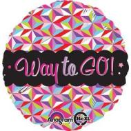 Foil Balloon - Way To Go Colorful - 18""