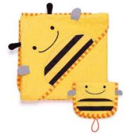 SKIP HOP BEE ZOO TOWEL/MITT SET