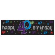 Banner-40th Bday-Plastic-20'' x 65''