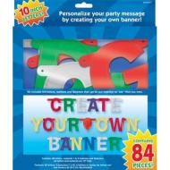 Banner-Personalized it-Multi Color-Foil-84pk/10''