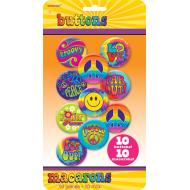 Button Set- 60's Groovy-10pk