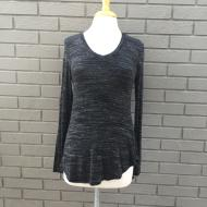 Back Knot Tee in Black Heather
