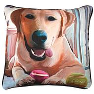 Lab with Ball Pillow