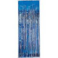 Metallic Curtain- Blue-8' x 3'