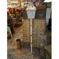 Rustic White Tri Leg Candle Lamp Post