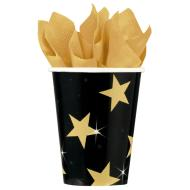 Cups- Hollywood-Star Attraction-Paper-9oz-8pk - Discontinued