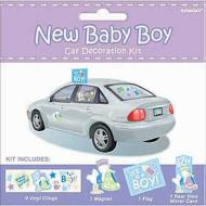 Car Decor Kit-New Baby Boy-12pk