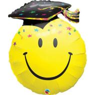 Foil Balloon - Graduation Smiley Face