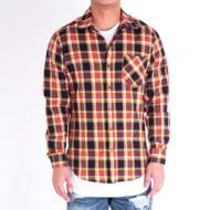 Side Zip Flannel/Orange