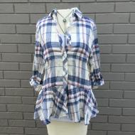 Sophy Soft Lines Plaid Blouse