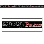 Party Tape-Plastic-Beware of Pirate-1pkg-20ft