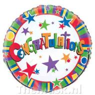 Foil Balloon - Congratulations Twinkle - 18''