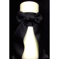 Candle-Ivory-Black Ribbon-10''