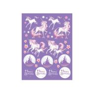 Stickers-Unicorn Fantasy-4 Sheets