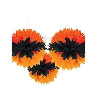 Danglers-Fluffy Decor-Halloween Orange&Black-3pk
