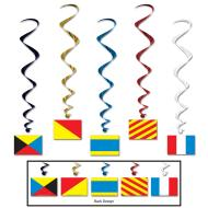 Danglers-Foil Swirl-Nautical Flags-5pkg-3.4ft