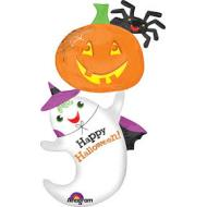 Foil Balloon-Happy Halloween Ghost SuperShape 54""