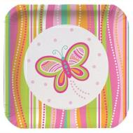 Plates-BEV-Mod Butterfly-8pkg-Paper - Discontinued