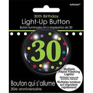 Button-Flashing-30th Birthday-Plastic-2''