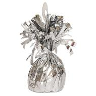 "Balloon Weight-Foil-Silver-1pkg-4.5""x2.25"""