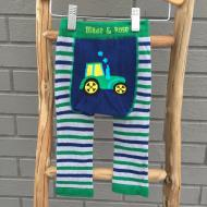 Tractor Blue Green Leggings