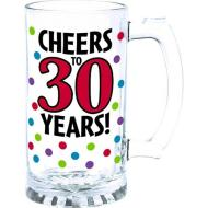 Glass-Tankard-30th Birthday-15oz