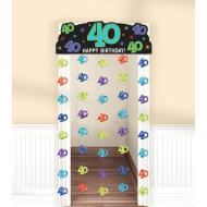 Doorway Curtain-40th Bday-77''